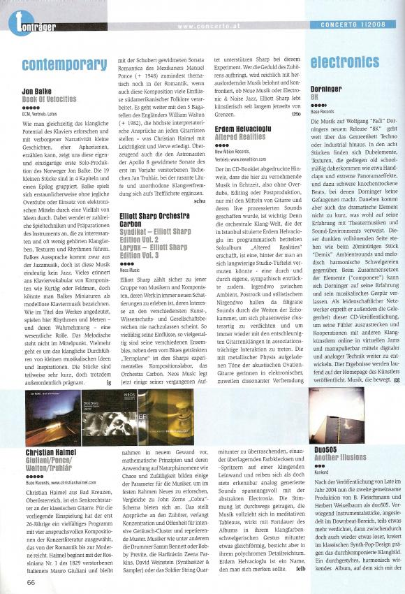 Concerto Magazine December 2007