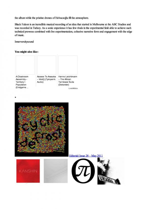 Cyclic Defrost Magazine August 2011