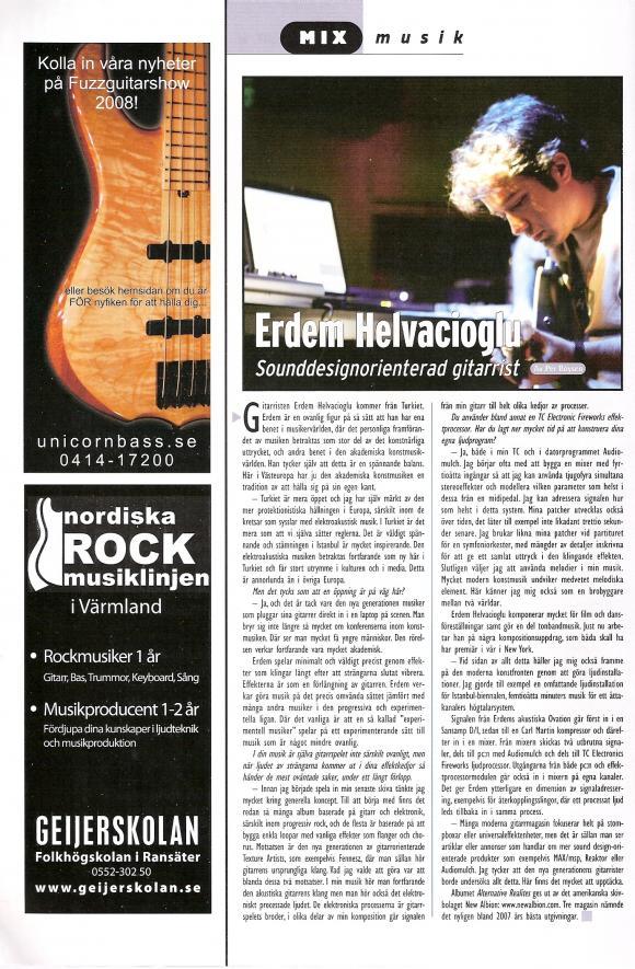 Fuzz Guitar Magazine April 2008