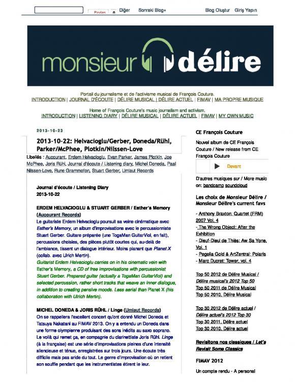 Monsieur Delire October 2013