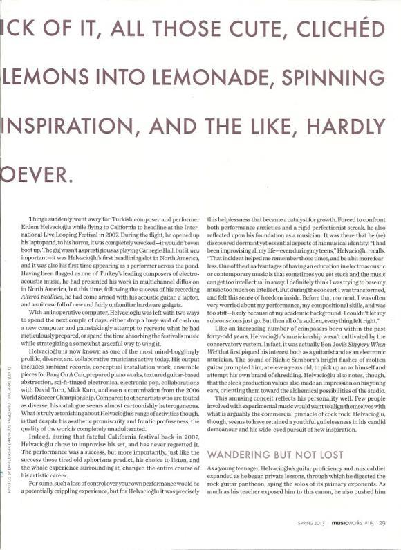 MUSICWORKS magazine Spring 2013 interview