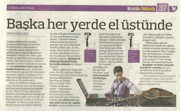 Radikal Gazetesi 13 Mayıs 2012