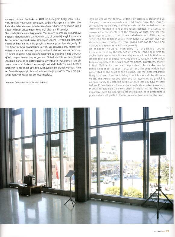 RH+ Sanat - October 2007