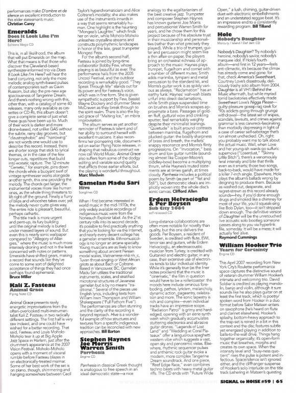 SIGNAL TO NOISE Magazine Fall 2010