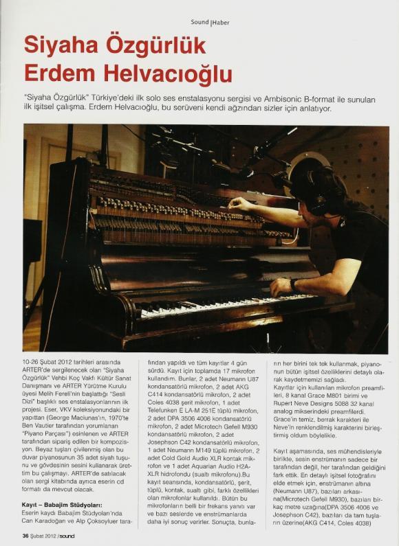 Sound Dergisi Şubat 2012